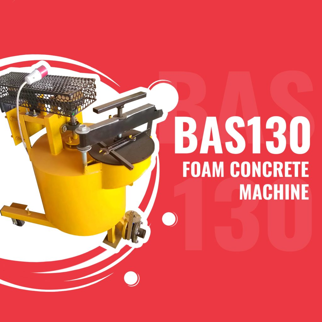 BAS130 foam concrete machine for lightweight concretes manufacturing