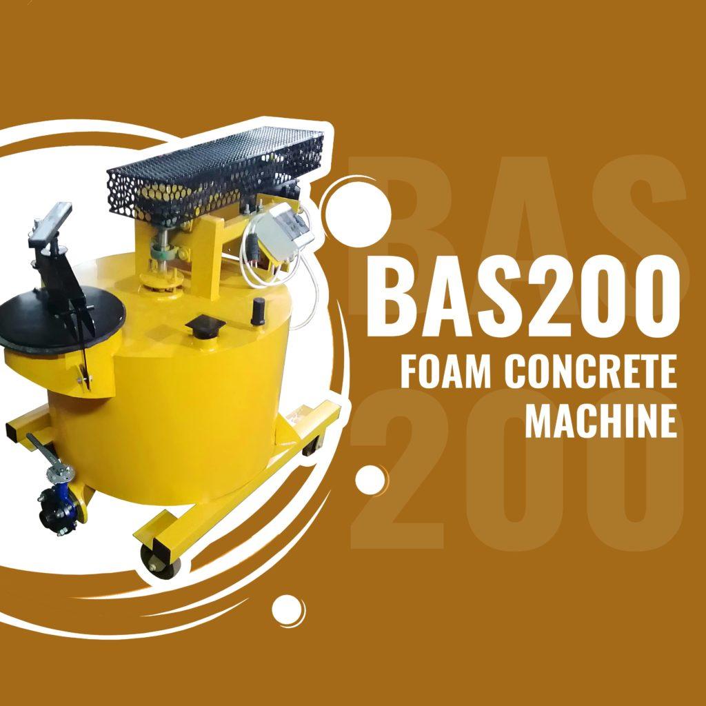 BAS200 foam concrete machine for lightweight concretes manufacturing