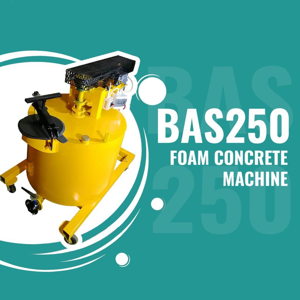 BAS250 foam concrete machine for lightweight concretes manufacturing