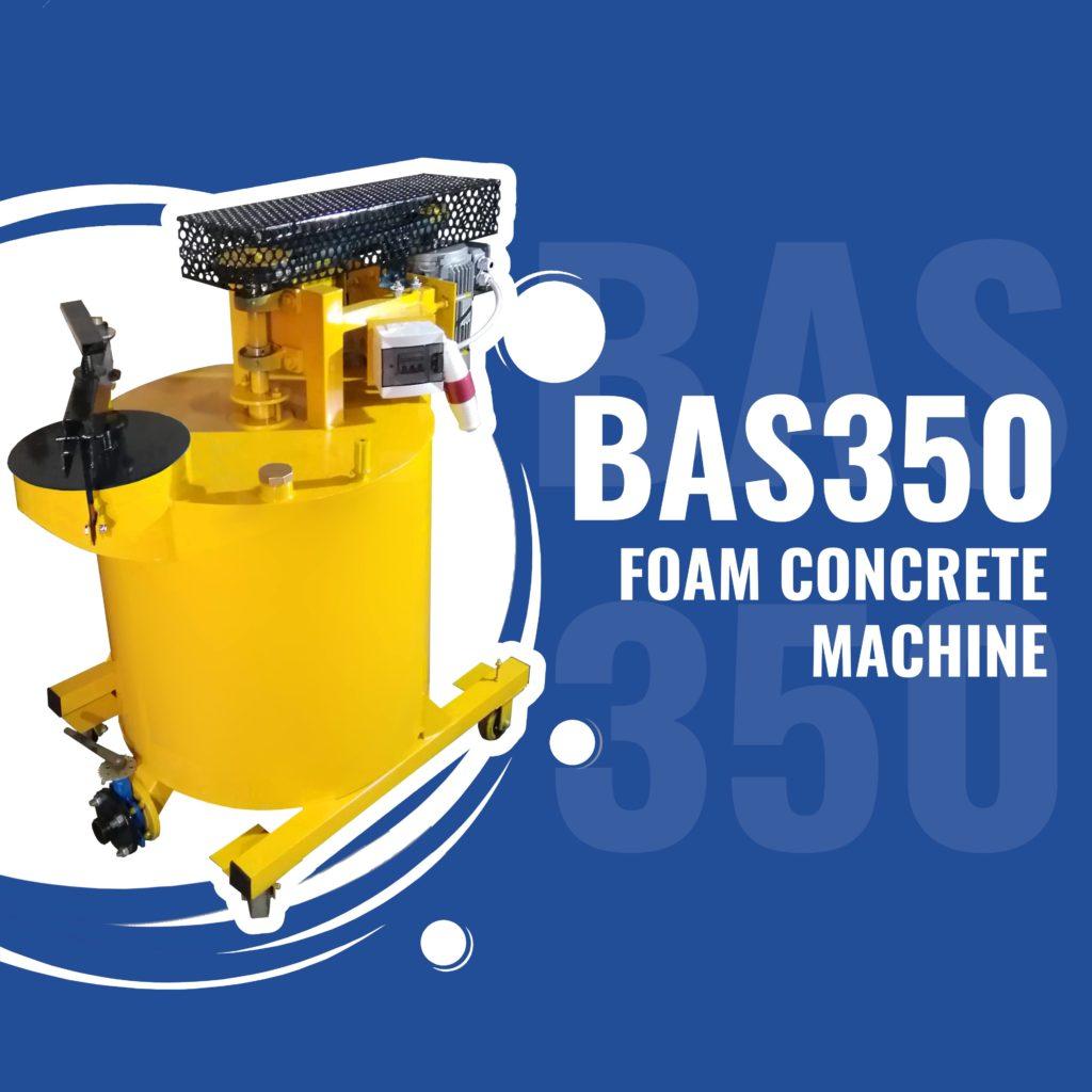 BAS350 foam concrete machine for lightweight concretes manufacturing