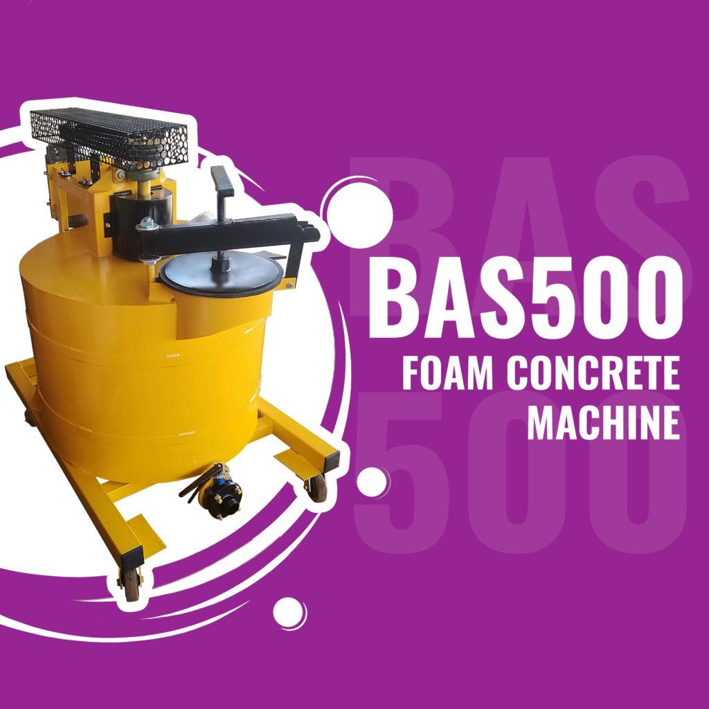 BAS500 foam concrete machine for lightweight concretes manufacturing