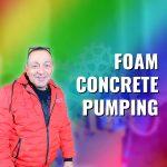 Foam concrete pumping