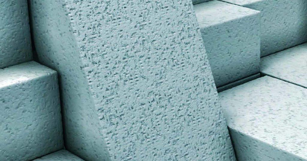 Foamed concrete blocks